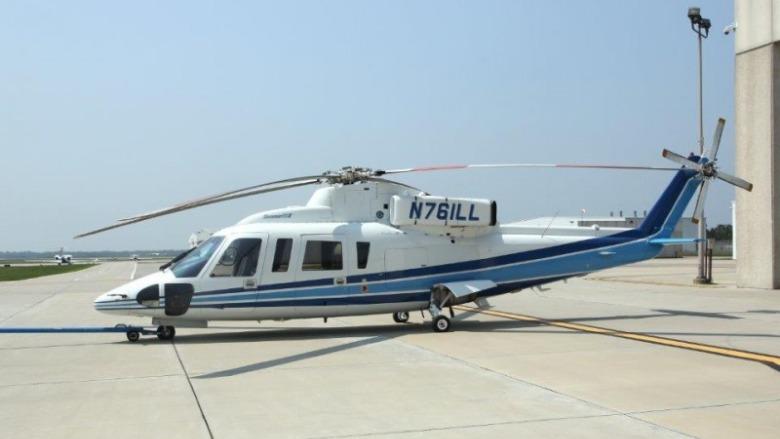 sikorsky s76 helicopter n72ex kobe bryant island express
