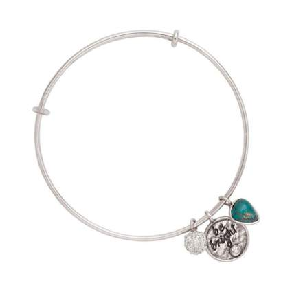 Silpada 'Be Bright' Adjustable Bangle Charm Bracelet