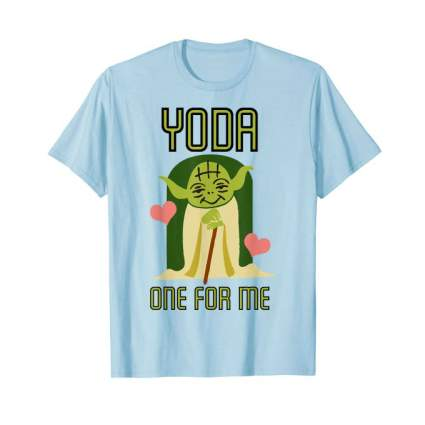 Star Wars Yoda One For Me Valentines Graphic T-Shirt