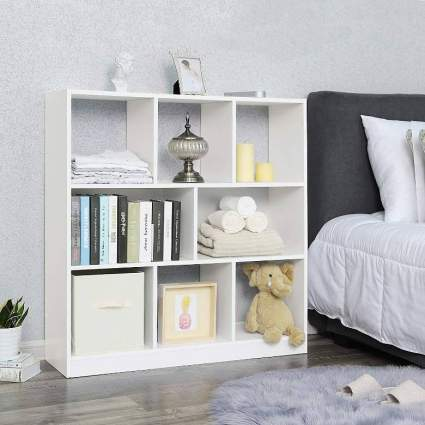 Wooden Bookcase Open