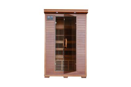 Yukon 2-Person Cedar Infrared Heatwave Sauna