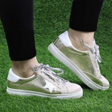 Lace Up Platform Fashion Sneakers