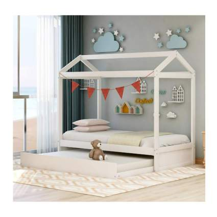 house shaped daybed with trundle