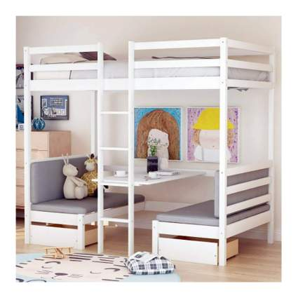 convertible loft bed with desk