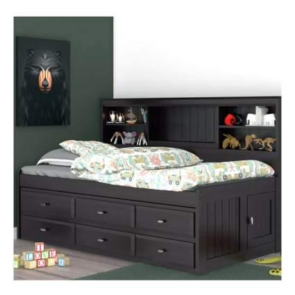 side headboard captain's bed