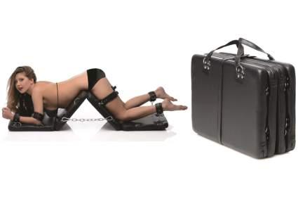 Folding bondage board with woman