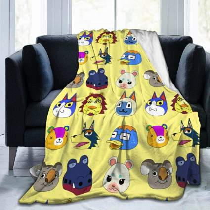 Animal Crossing Characters Micro Fleece Blanket