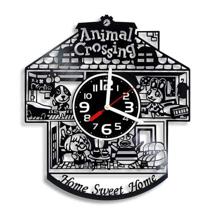 Animal Crossing Home Sweet Home Vinyl Wall Clock
