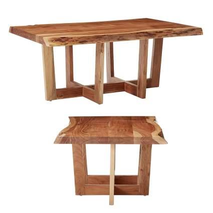 acacia wood live edge coffee table