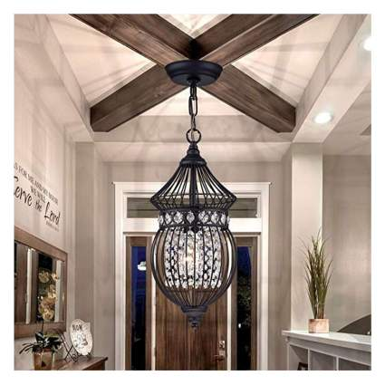 black globe crystal chandelier