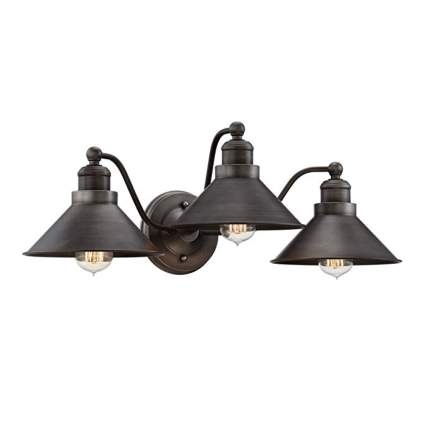 dark bronze industrial vanity light