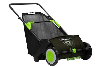 Earthwise 21-Inch Leaf & Grass Push Lawn Sweeper