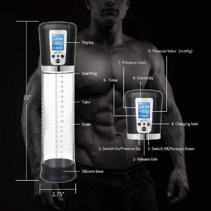 Electric Penis Vacuum Pump with 4 Suction Intensities