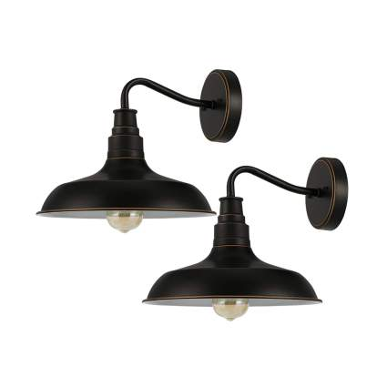 black barn light wall sconces