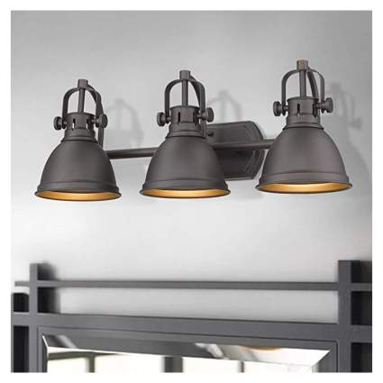 farmhouse three light vanity fixture