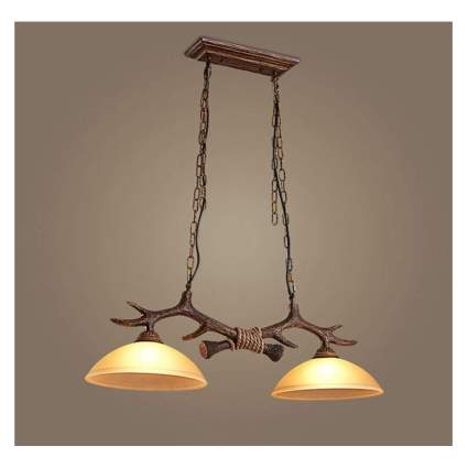faux antler kitchen island pendant light