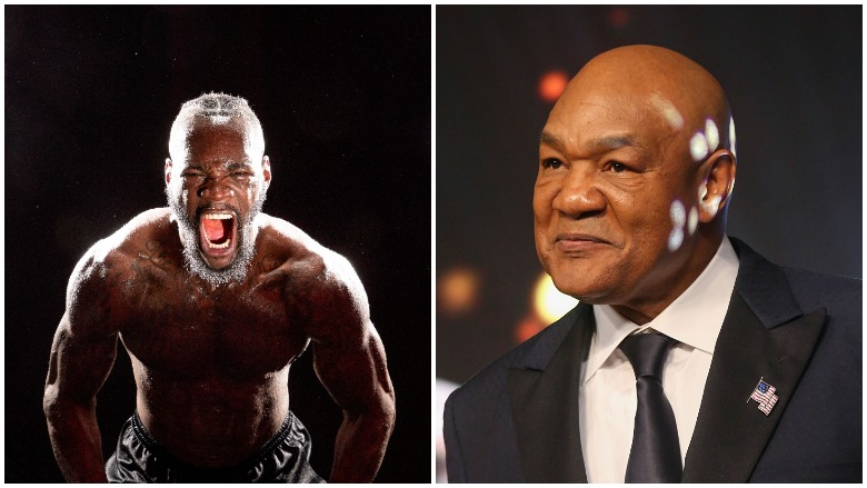 Deontay Wilder and George Foreman