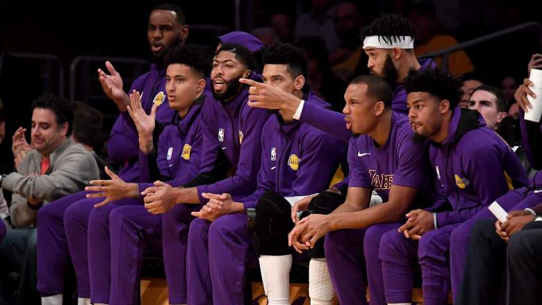 Lakers Roster Bench