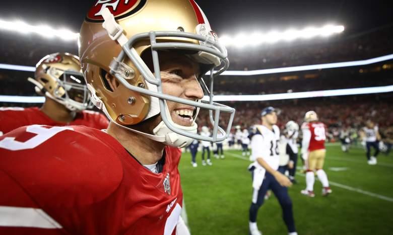 San Francisco 49ers kicker Robbie Gould