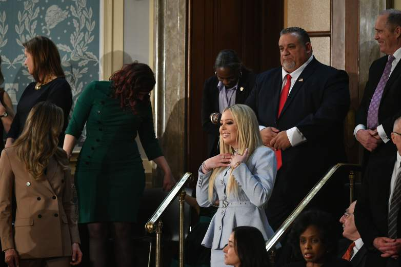 Tiffany Trump enters the State of the Union address