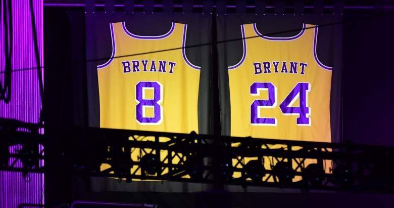 Kobe Bryant retired jerseys