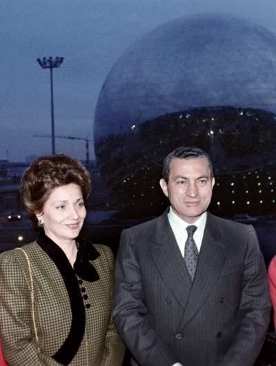 Suzanne Mubarak and Hosni Mubarak