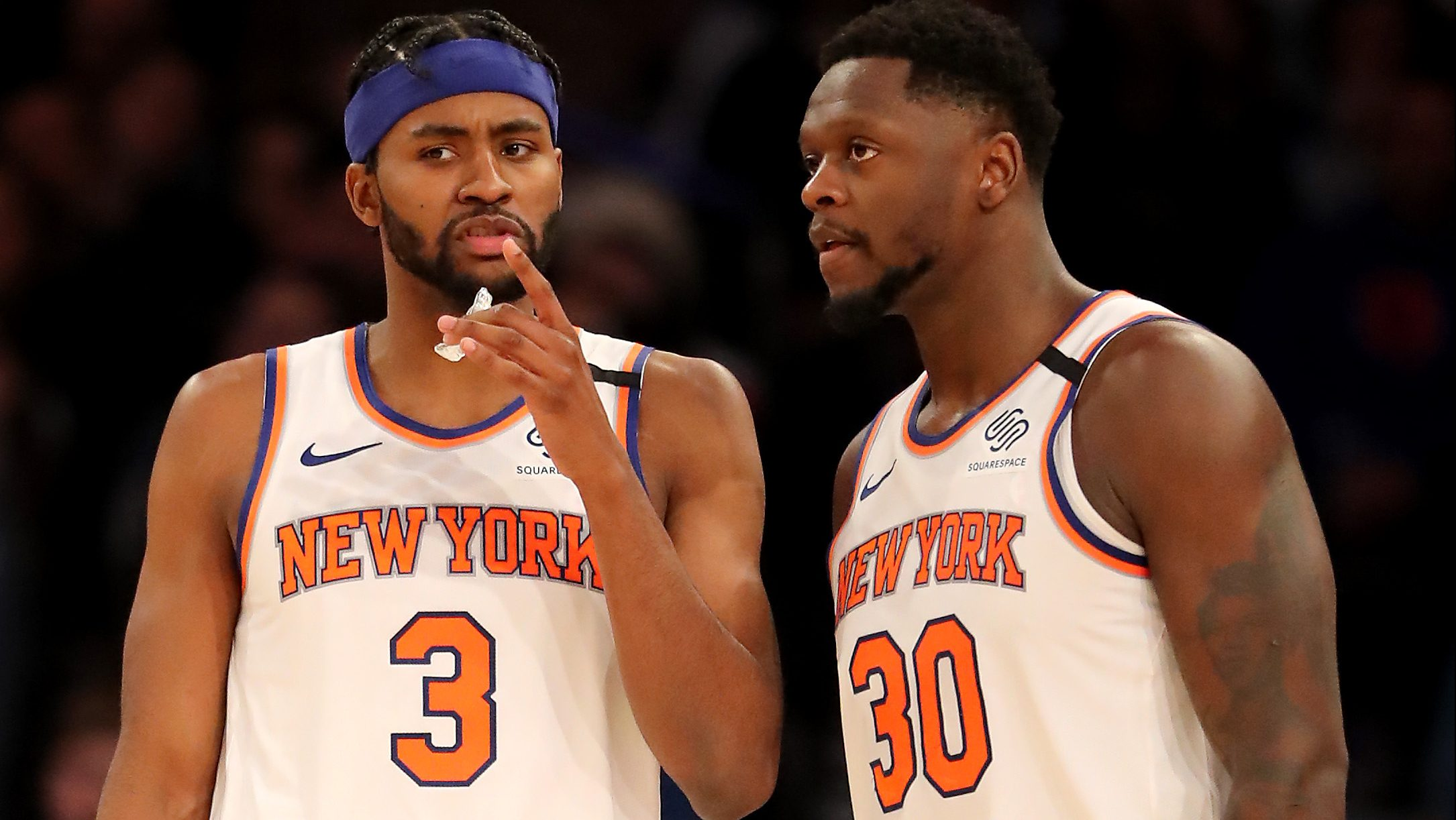 Maurice Harkless, at left, a Knick for now