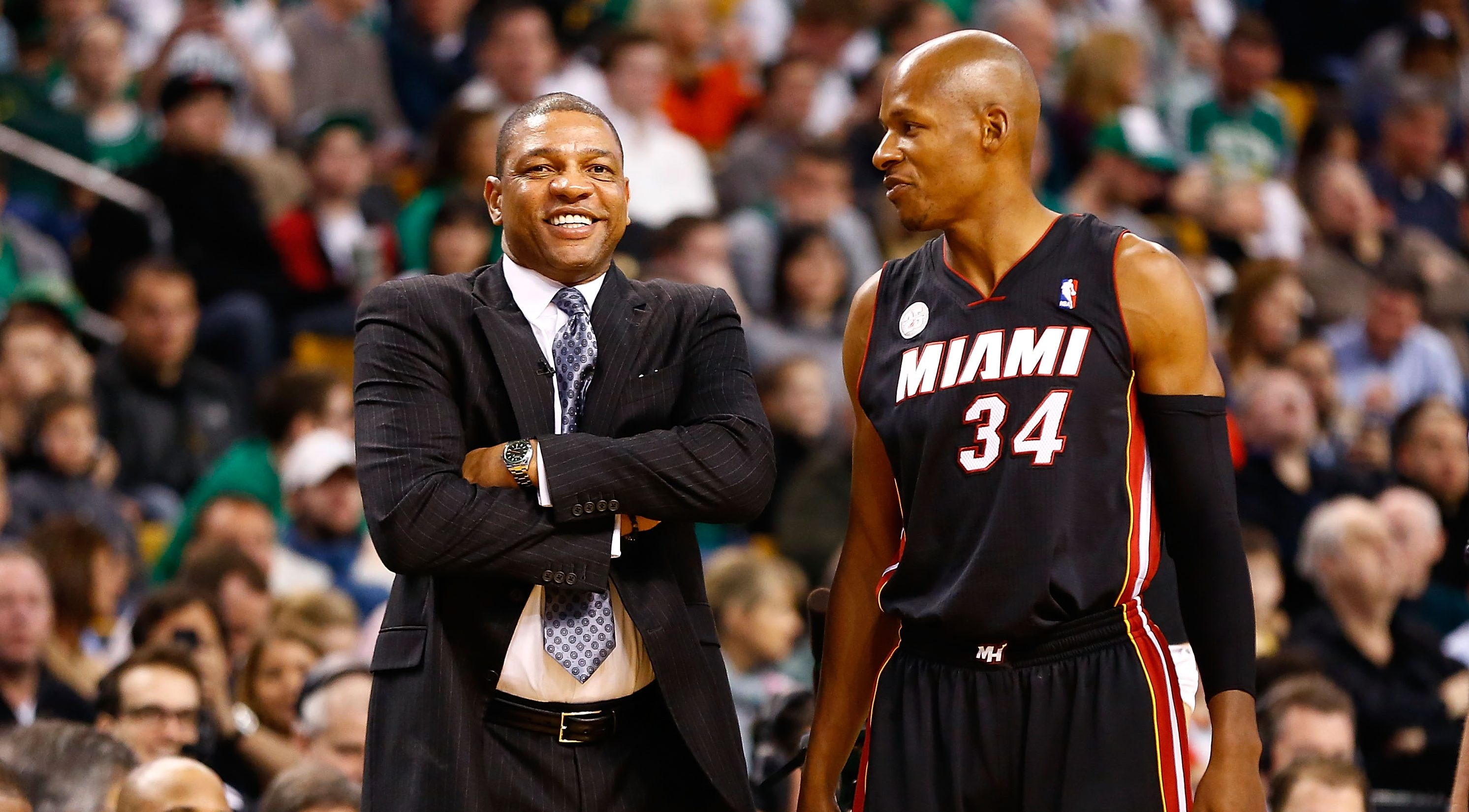 Doc Rivers and Ray Allen in 2013