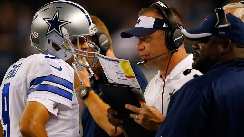 Scott Linehan with Dallas Cowboys
