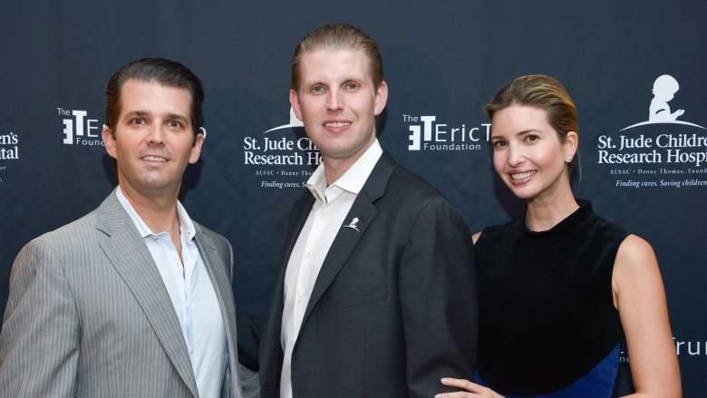 Don Jr, Eric, and Ivanka Trump