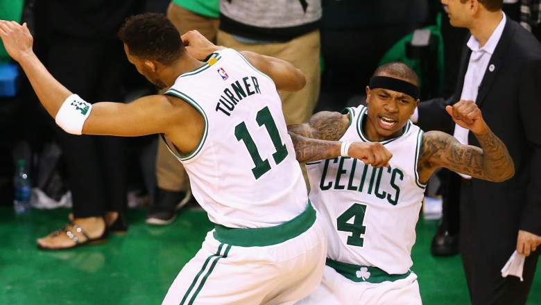 Evan Turner and Isaiah Thomas in 2016