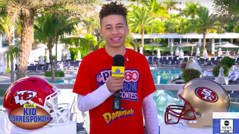 Quentin Corr delivers Super Bowl updates for Good Morning America