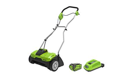 GreenWorks 14-inch Dethatcher/Scarifier w/Battery and Charger