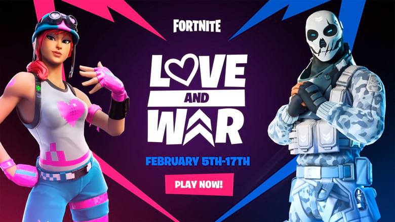 how to complete fortnite love and war challenges