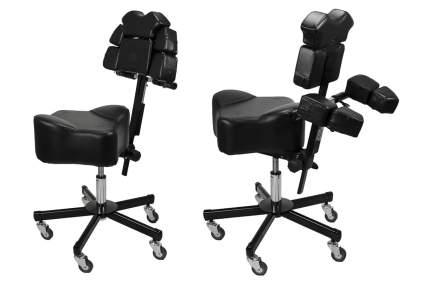 Black rolling stool