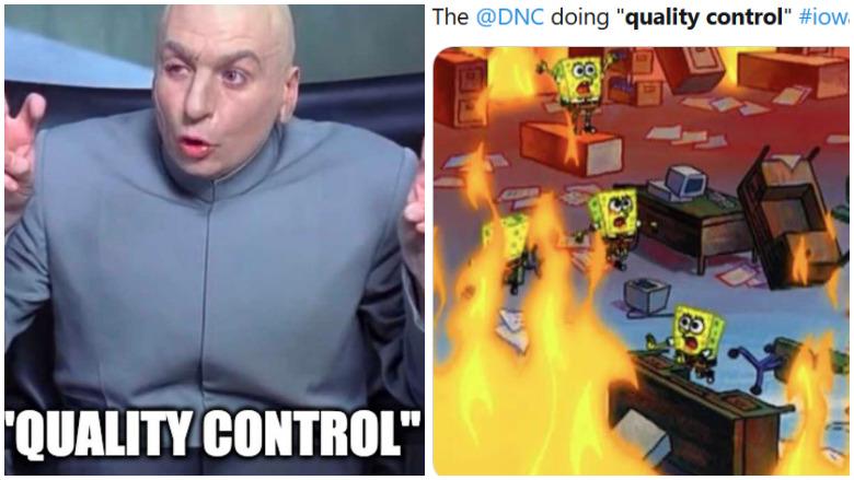 iowa caucus quality control memes