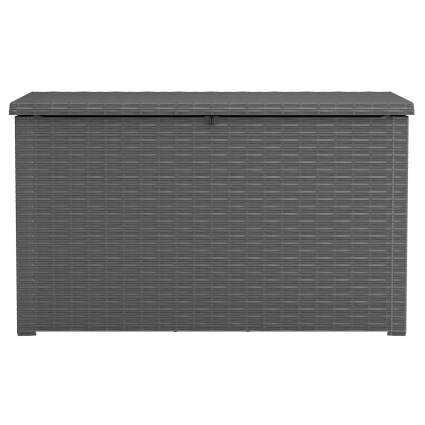 Keter Java XXL 230-Gallon Resin Rattan Look Large Outdoor Storage Deck Box