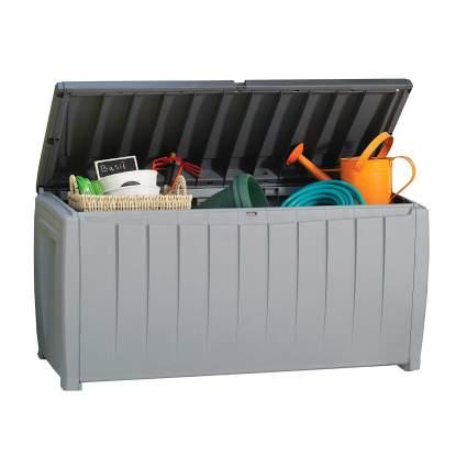 Keter Novel 90 Gallon Resin Outdoor Storage Box