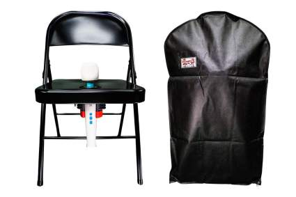 Folding chair with hitatchi magic wand