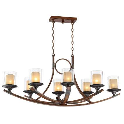 mahogany metal farmhouse chandelier