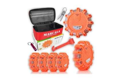 Marcala LED Road Flares 6-Pack with Bonus Items
