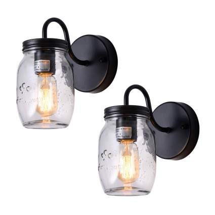 mason jar sconce lights