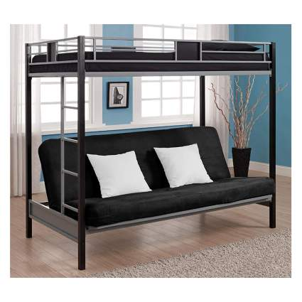 twin bunk over futon bed frame
