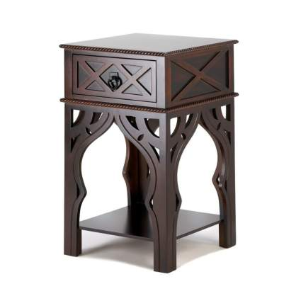moroccan wood end table