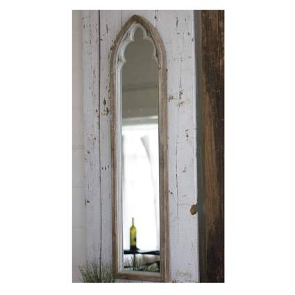 moroccan wood framed mirror