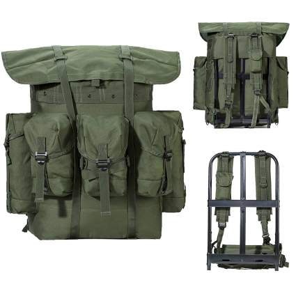 MT Military Surplus Army Survival Combat Field Backpack with Frame