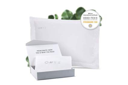 White pillowcase with box