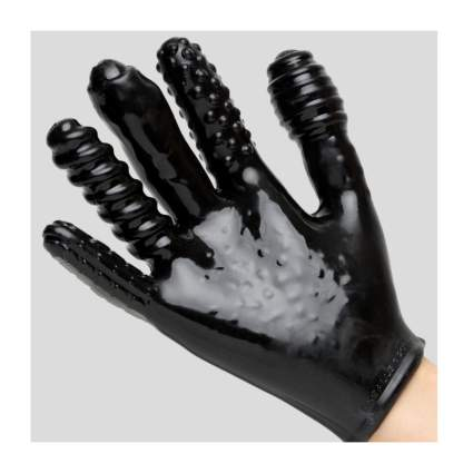 Black textured glove