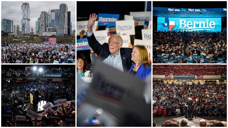 Bernie Sanders Texas rallies in Houston, San Antonio, Austin and El Paso