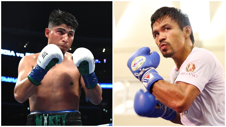 Mikey Garcia and Manny Pacquiao